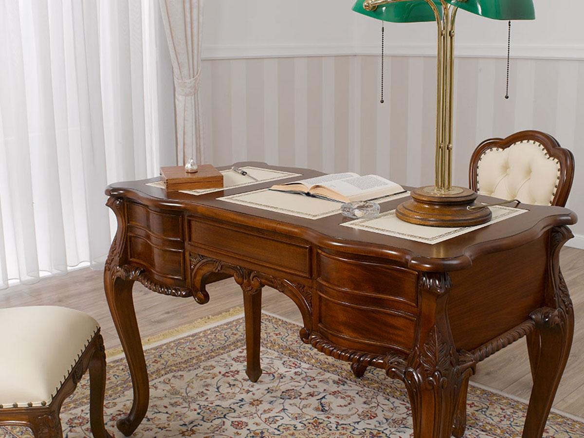 chefschreibtisch diana chippendale stil b ro schreibtisch. Black Bedroom Furniture Sets. Home Design Ideas