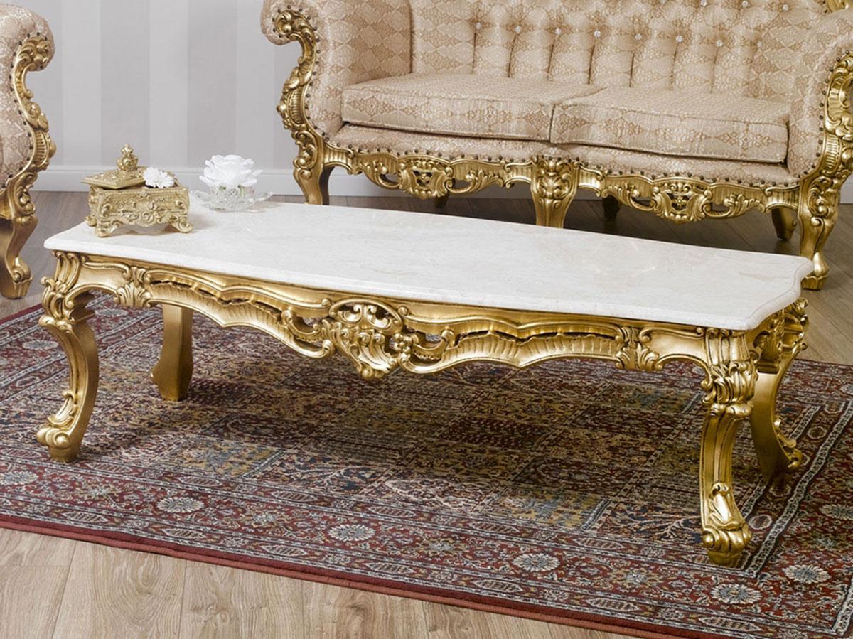 Wohnzimmertisch boutique franz sisch barock stil for Marmor wohnzimmertisch