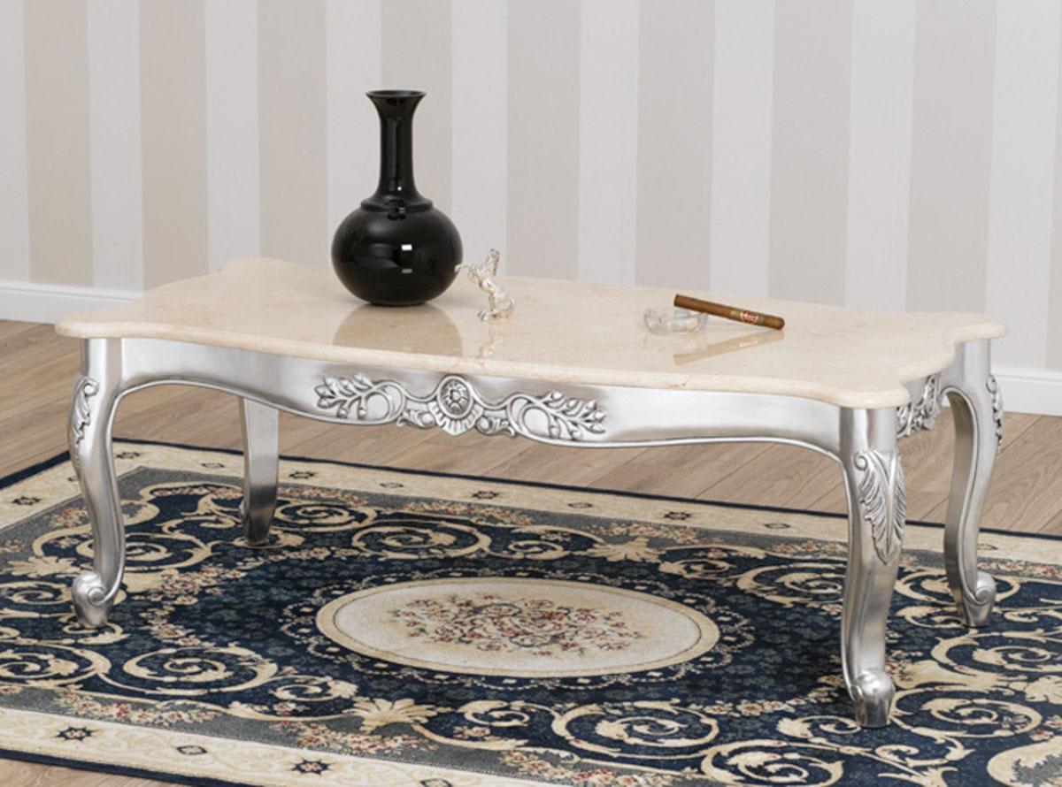 Wohnzimmertisch arald modern barock stil couchtisch for Marmor wohnzimmertisch